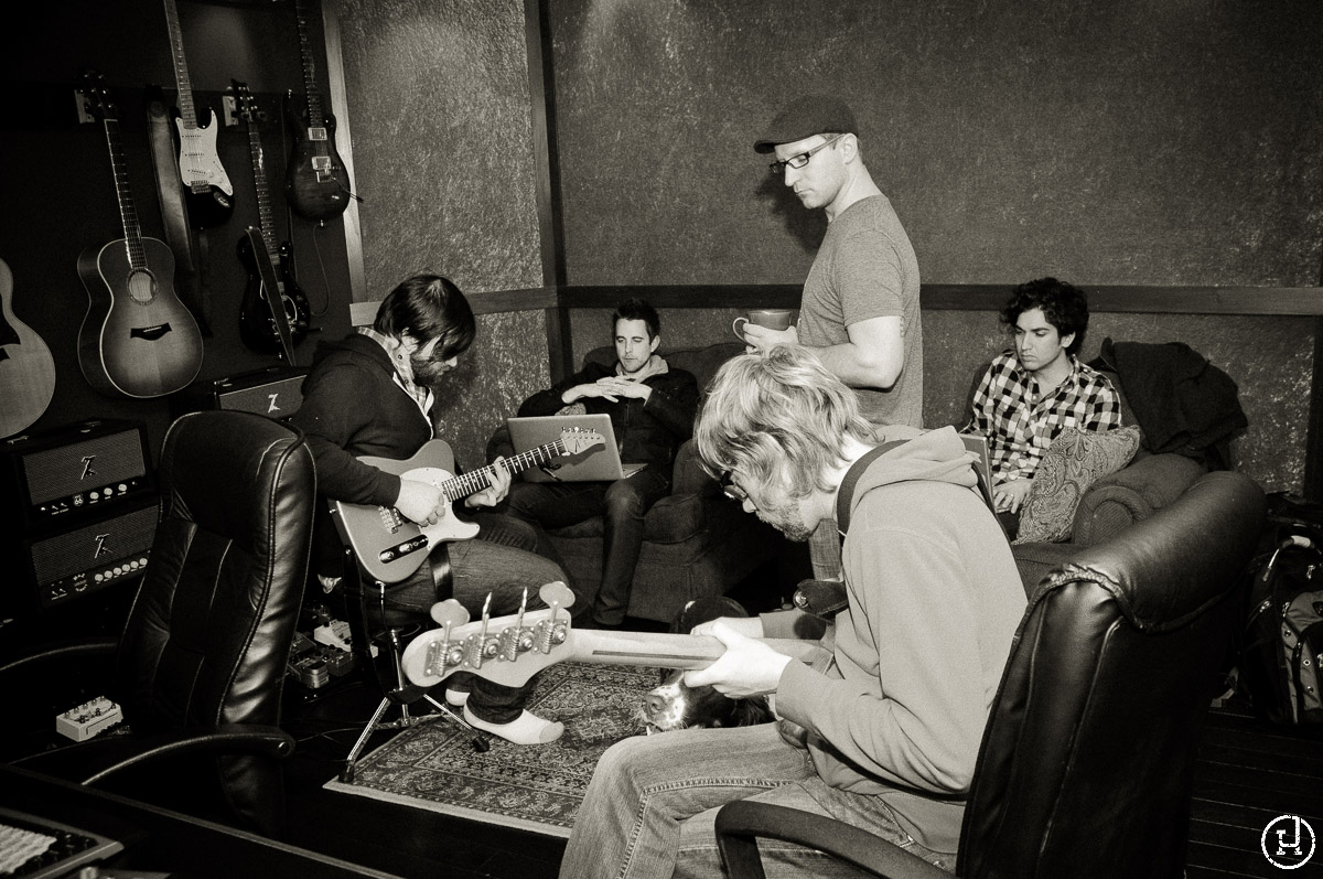 Sanctus Real recording demos at MadSam Studios for their upcoming album Run