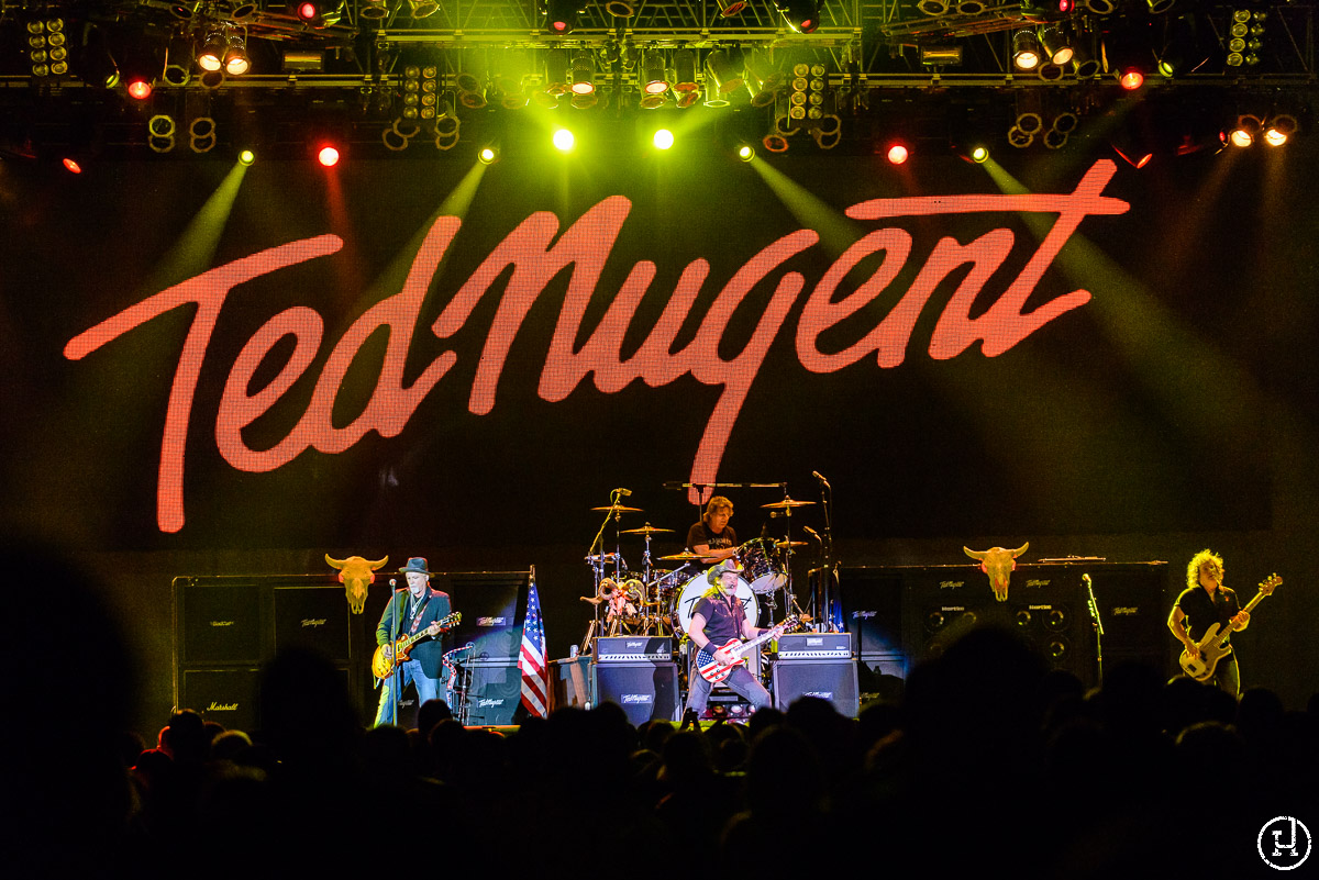 Ted Nugent performs at The Huntington Center in Toledo, OH on April 21, 2013 (Jeff Harris)